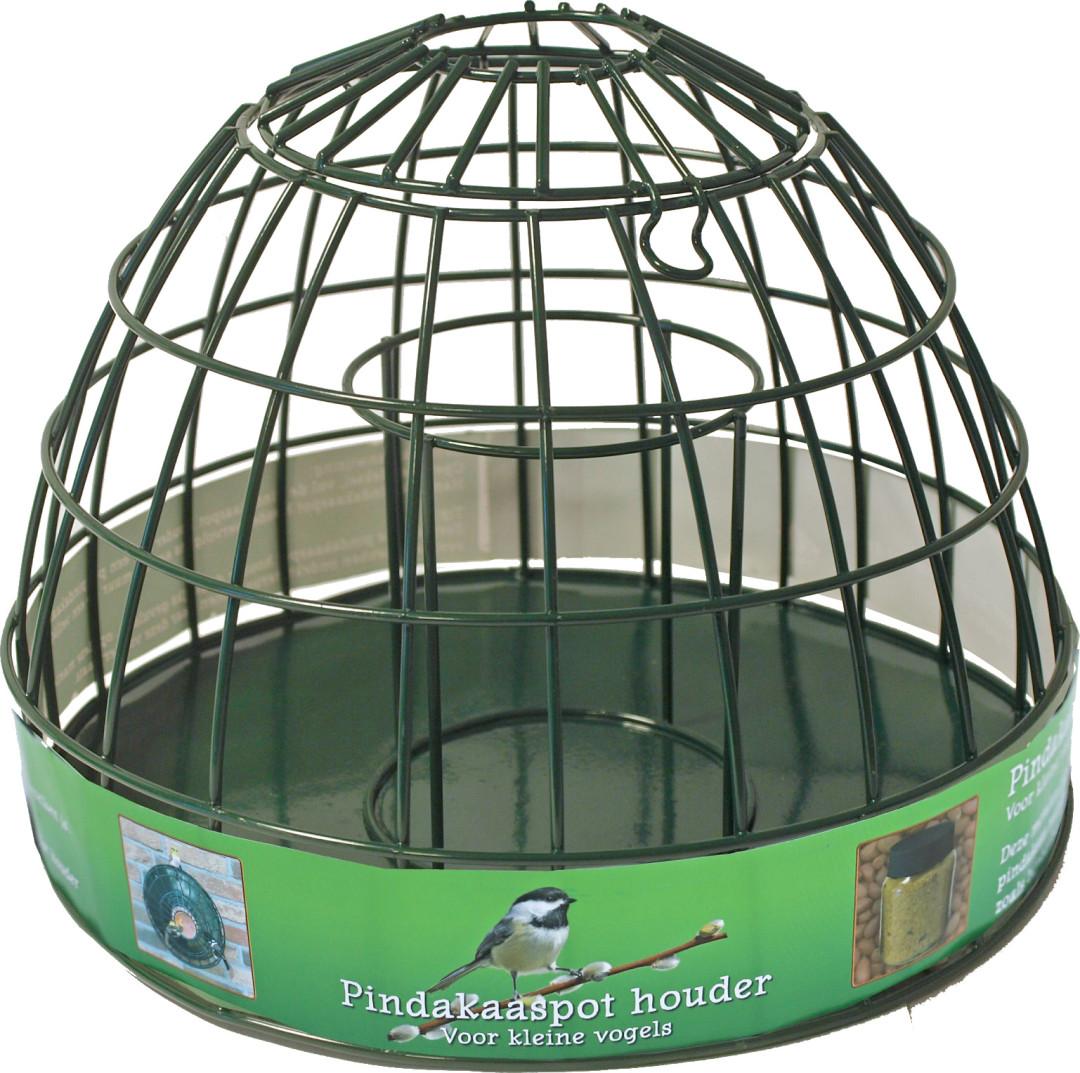 Pindakaaspothouder voor kleine vogels metaal groen