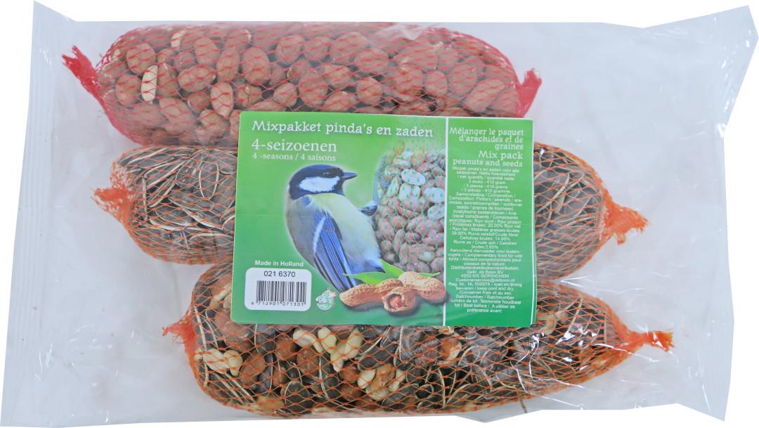 Mixpakket pinda's en zaden 4-seizoenen