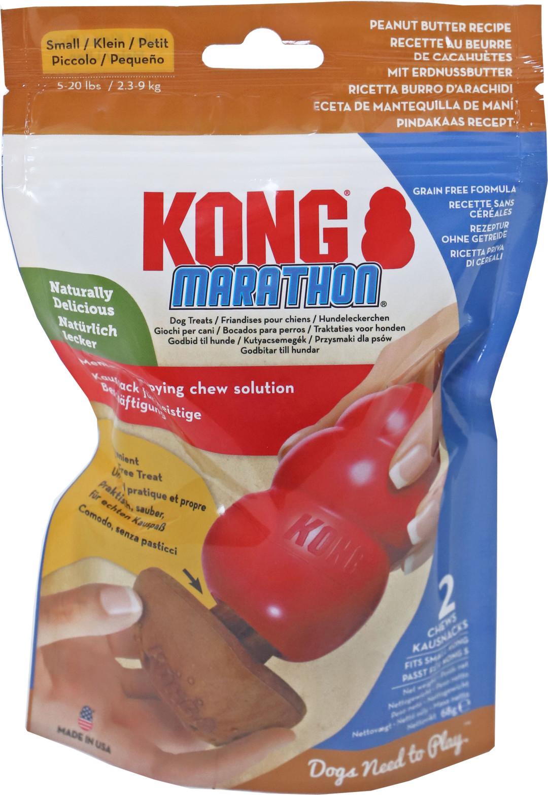 Kong Marathon Pindakaas Small 2 st