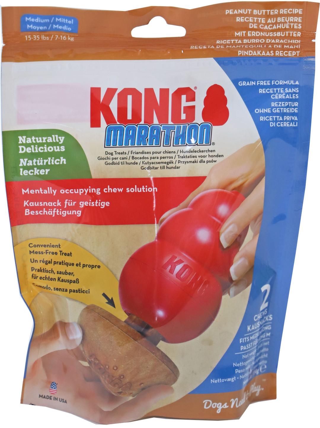 Kong Marathon Pindakaas Medium 2 st