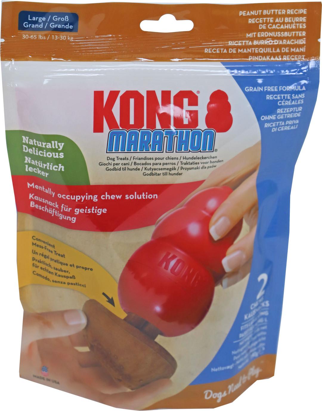 Kong Marathon Pindakaas Large 2 st