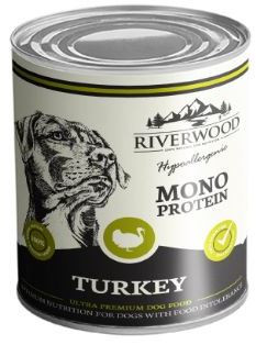 Riverwood hondenvoer Mono Protein Turkey 400 gr