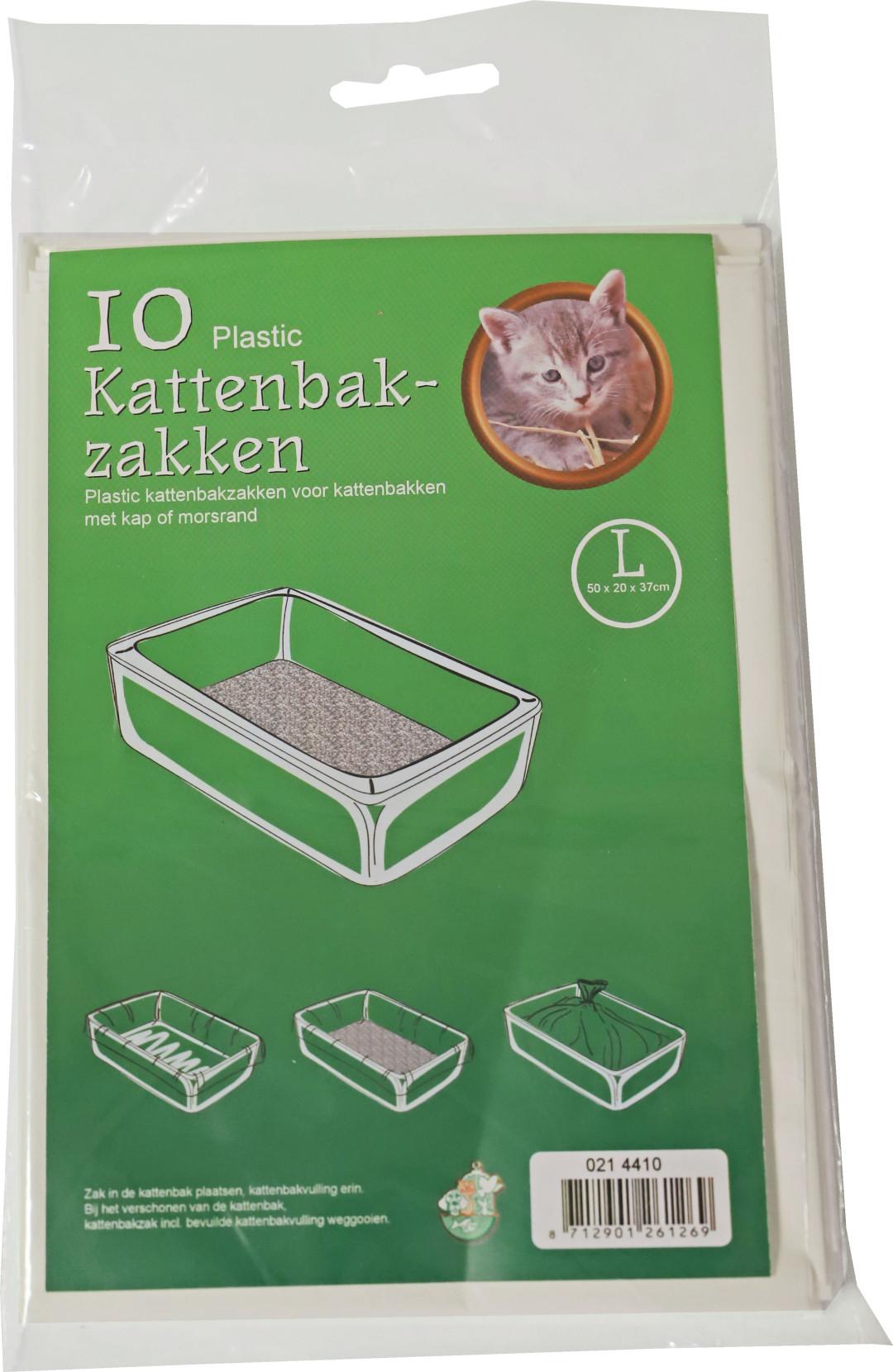 Kattenbakzakken L <br>10 st wit