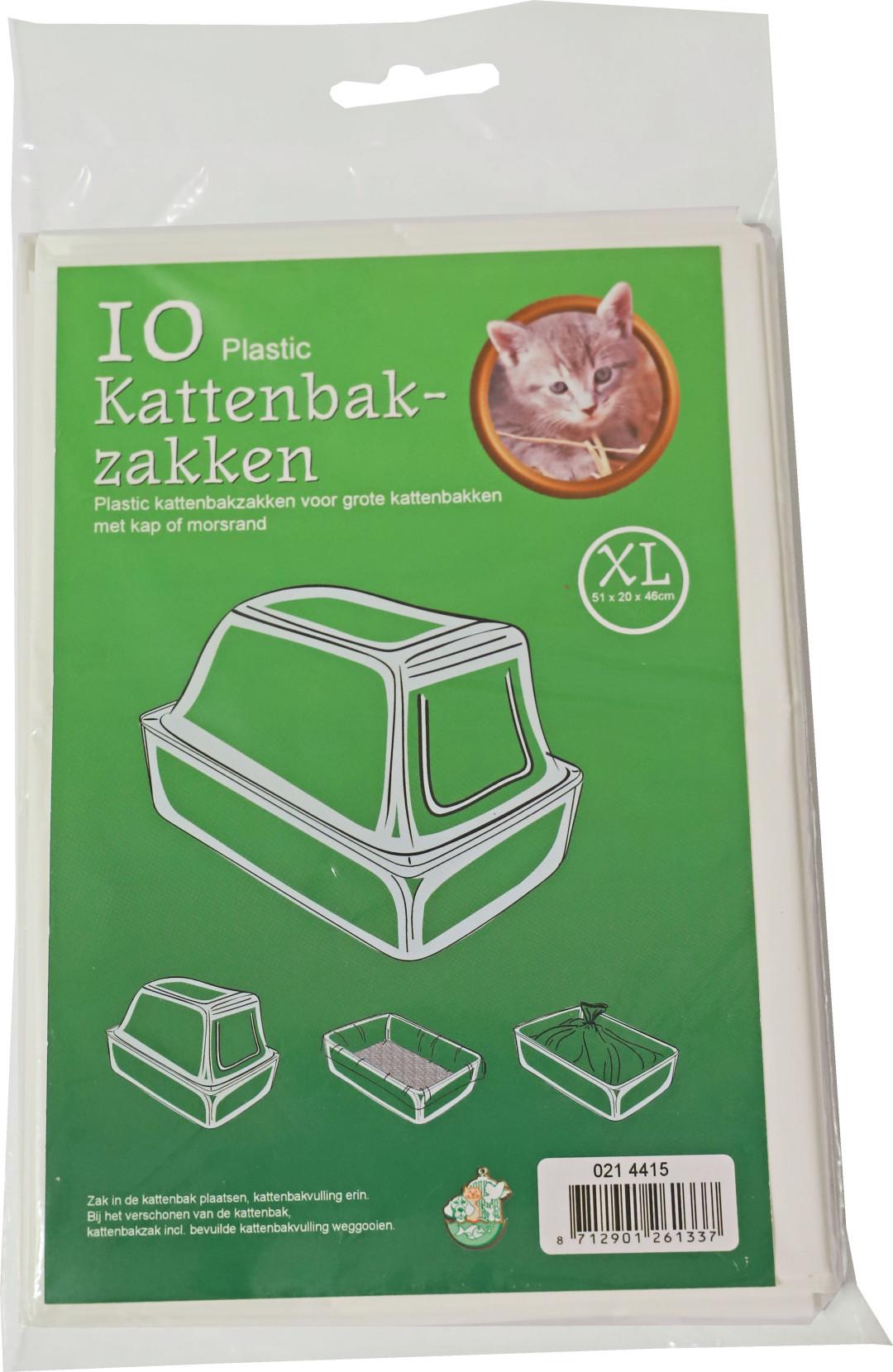 Kattenbakzakken XL <br>10 st wit
