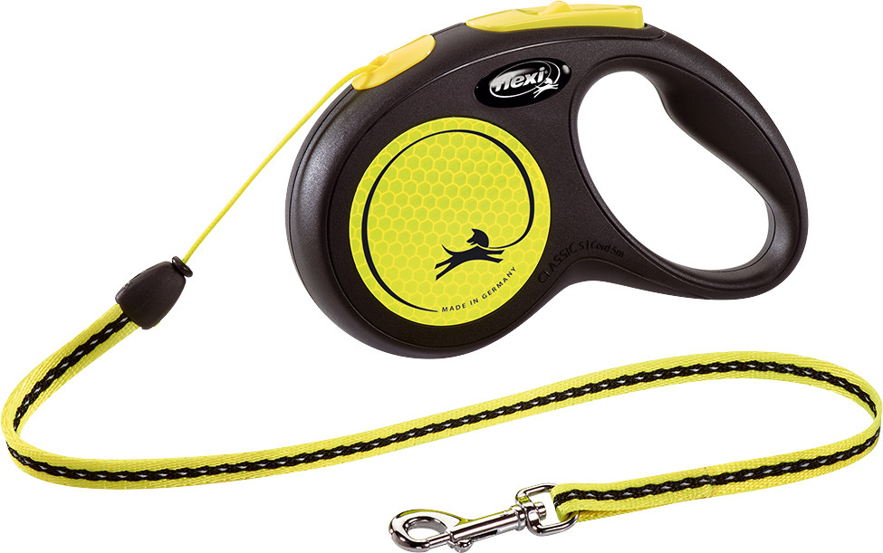 Flexi New Neon S met koord geel 5 mtr