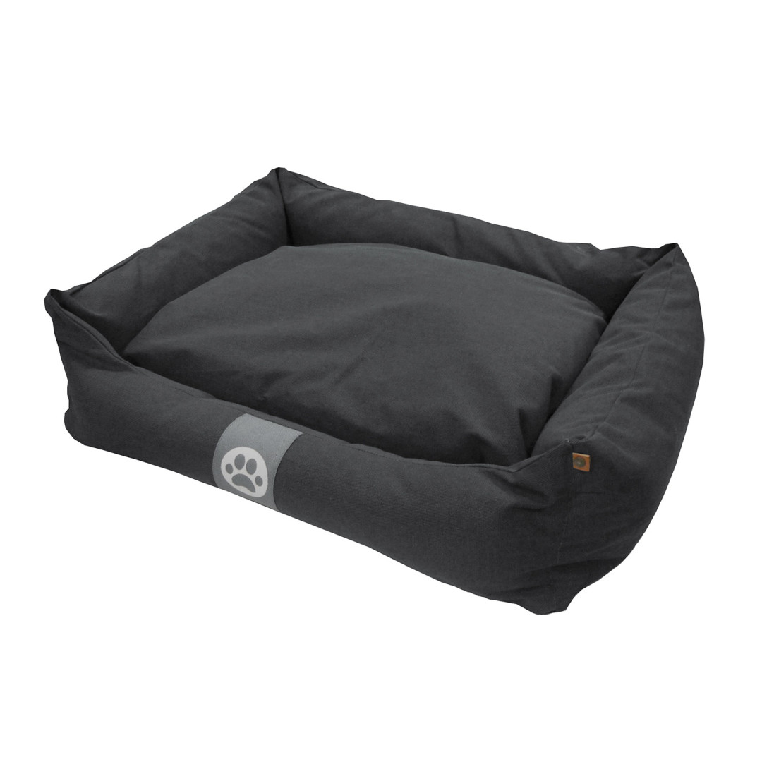 Overseas Petlife Hondenmand Canvas Anthracite