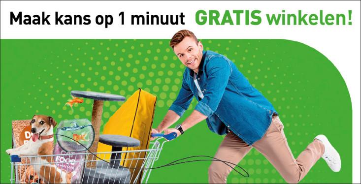 Win 1 minuut gratis winkelen!