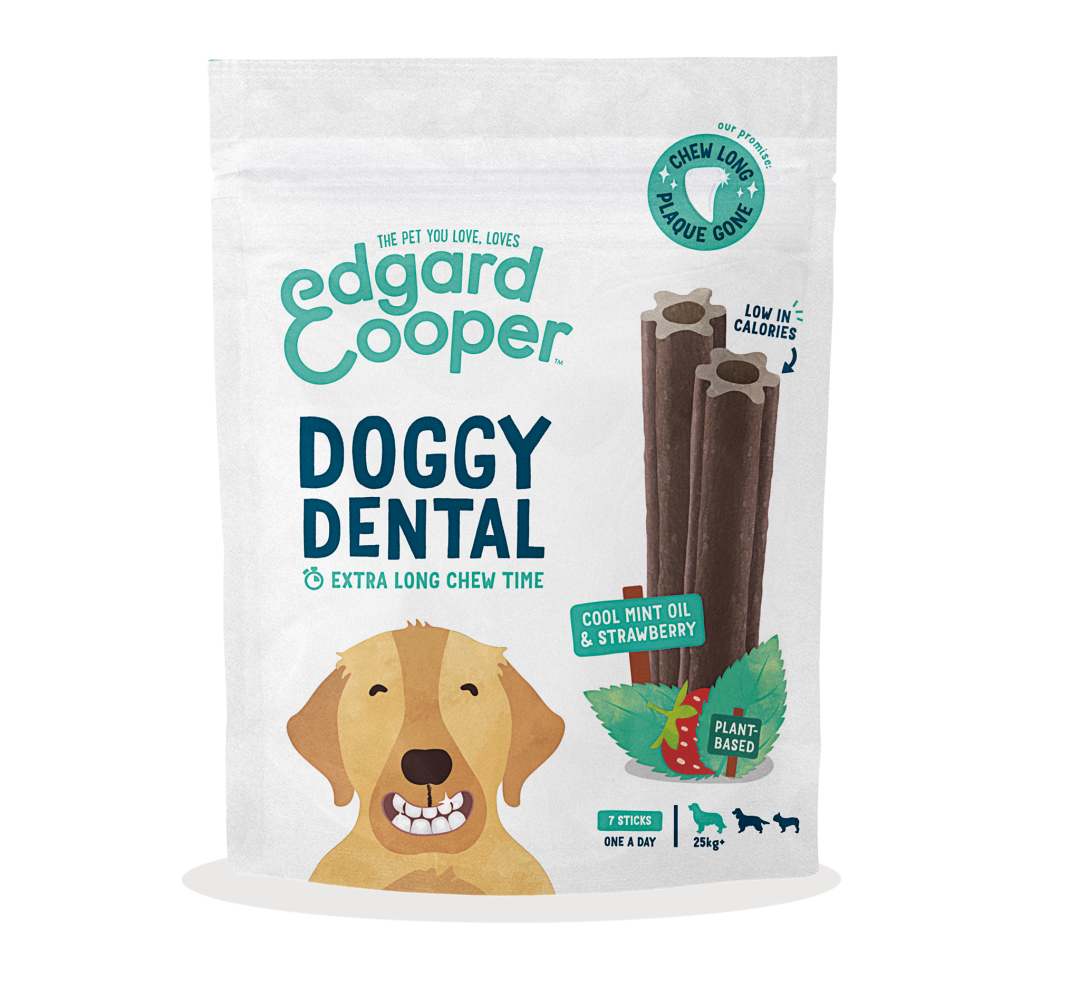 Edgard & Cooper Doggy Dental Aardbei en Mint Large 7 st