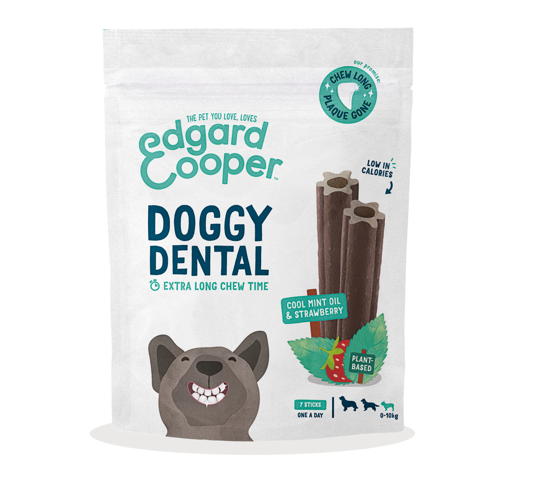 Edgard & Cooper Doggy Dental Aardbei en Mint Small 7 st