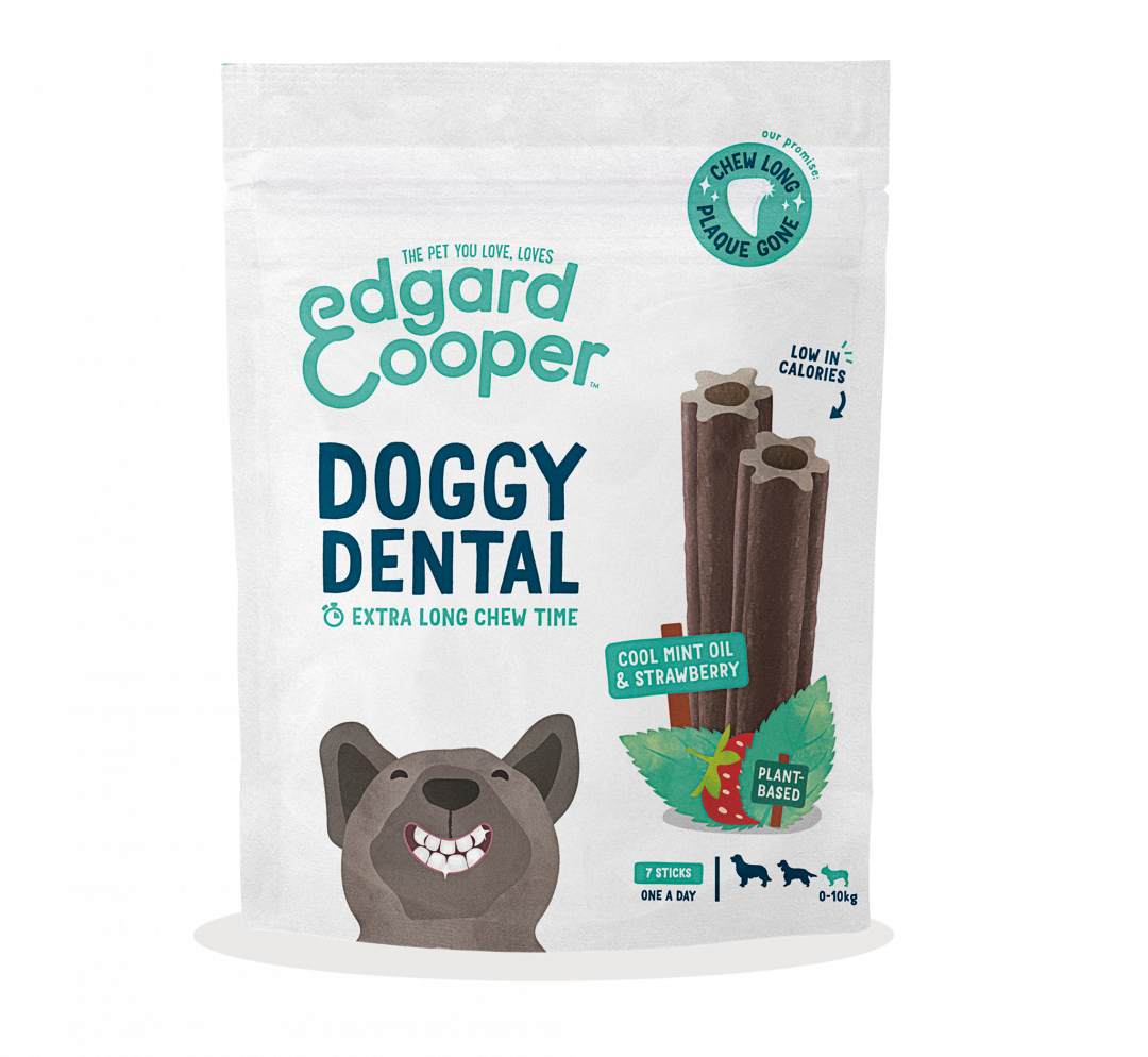 Edgard & Cooper Doggy Dental Aardbei en Mint Small 7 st