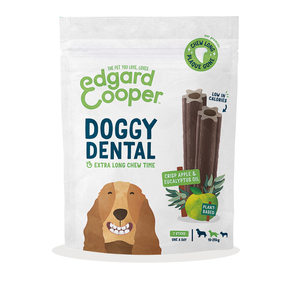 Edgard & Cooper Doggy Dental Appel en Eucalyptus Medium 7 st