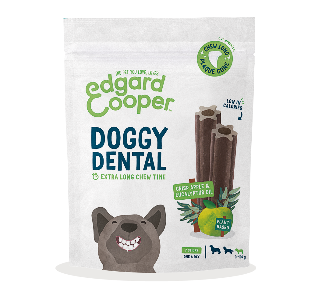 Edgard & Cooper Doggy Dental Appel en Eucalyptus Small 7 st