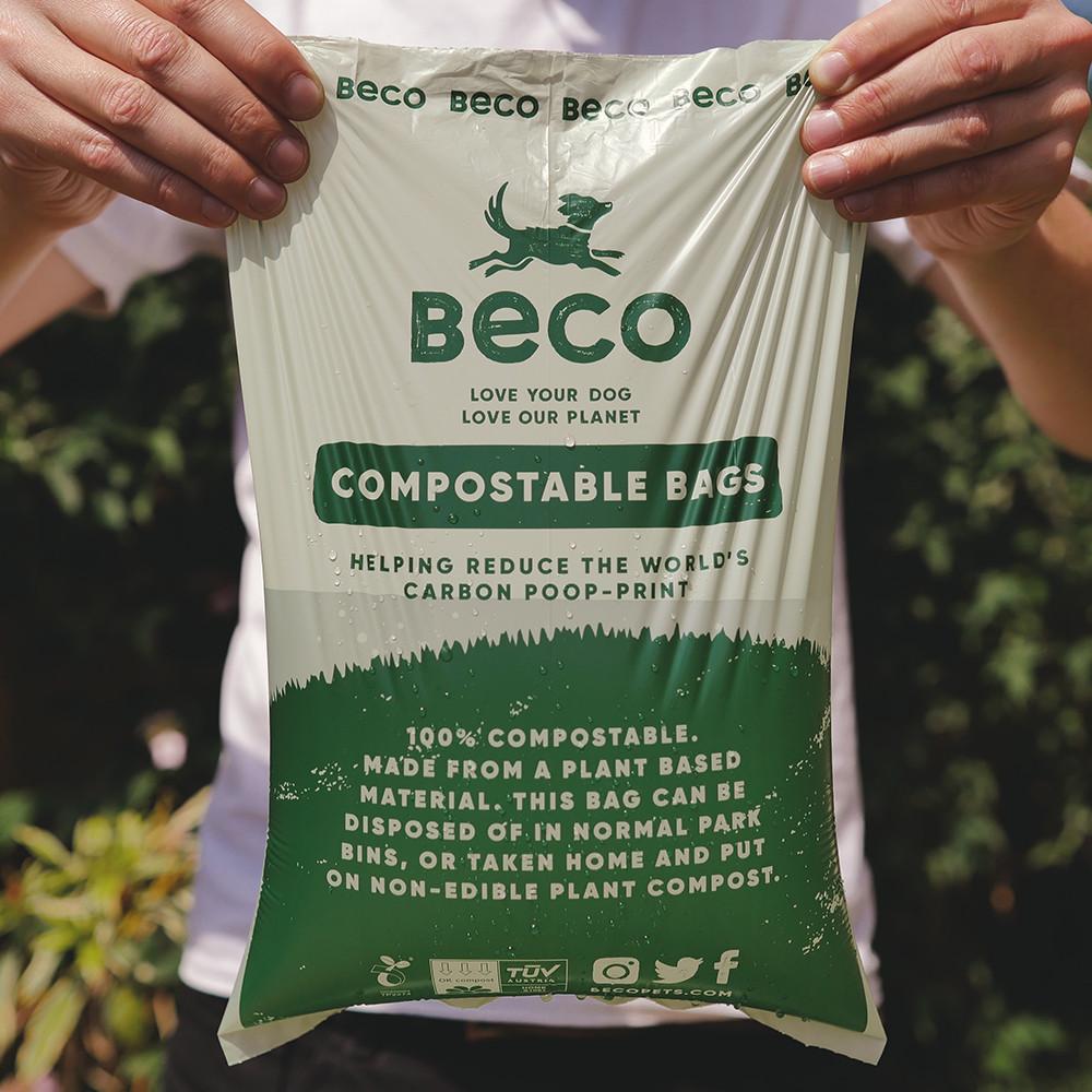 Beco Pets poepzakjes composteerbaar travel pack 4 x 15 st