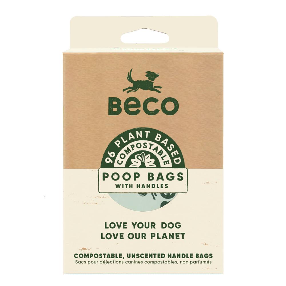 Beco Pets poepzakjes met handvatten composteerbaar 96 st