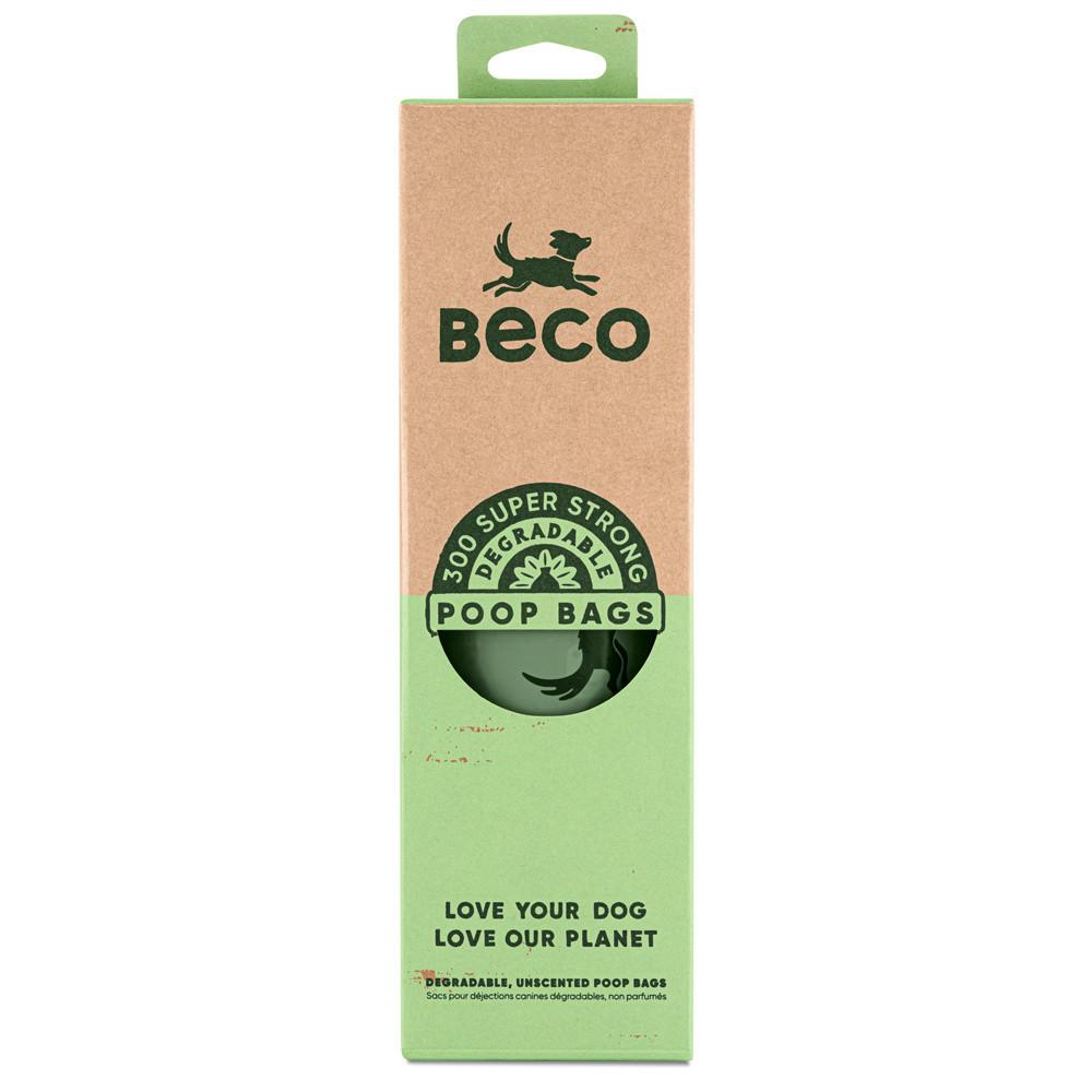 Beco Pets afbreekbare poepzakjes dispenser rol 300 st