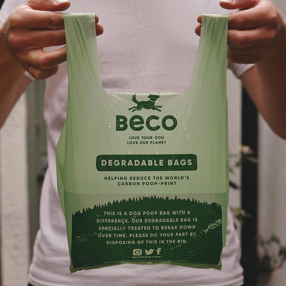 Beco Pets afbreekbare poepzakjes met handvatten 120 st