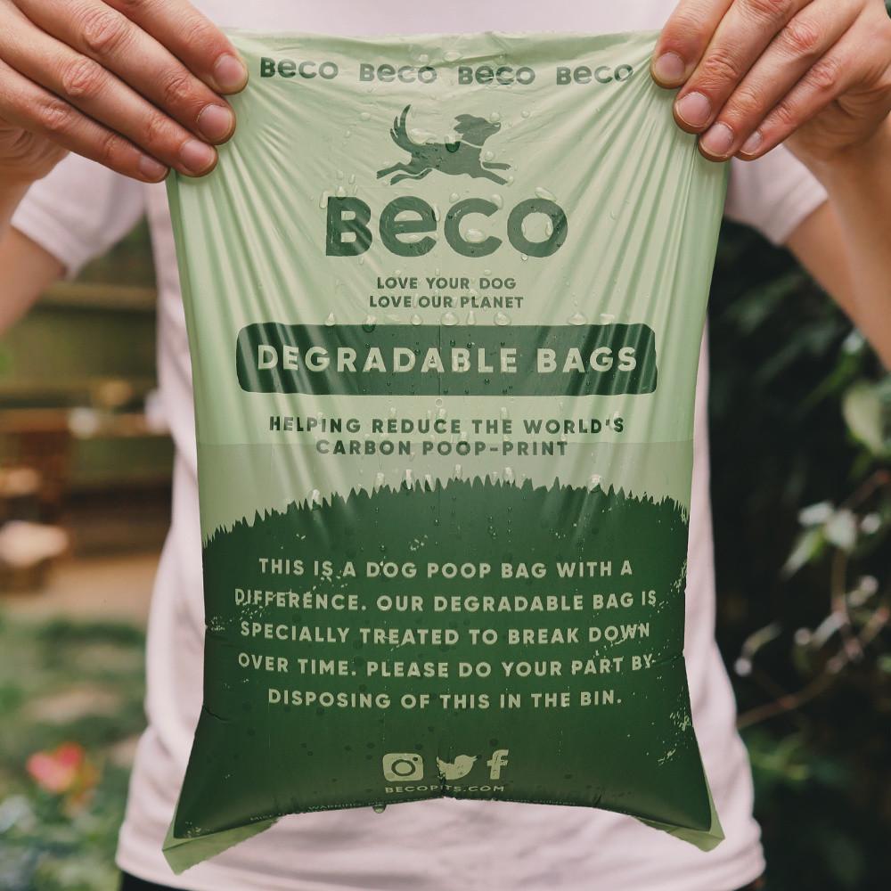 Beco Pets afbreekbare poepzakjes mint geur travel pack <br>4 x 15 st