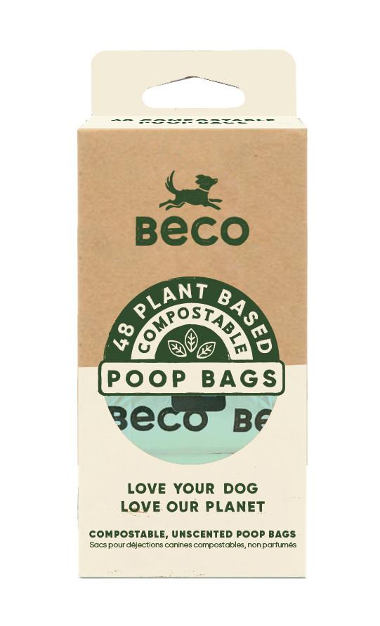 Beco Pets poepzakjes composteerbaar <br>4 x 12 st