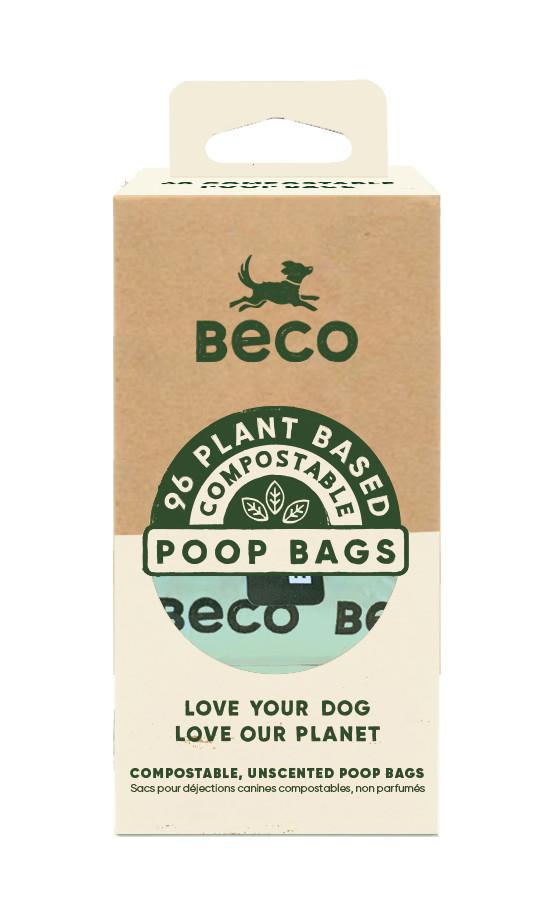 Beco Pets poepzakjes composteerbaar <br>8 x 12 st