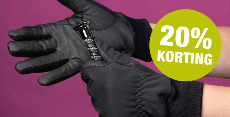 20% korting op handschoenen