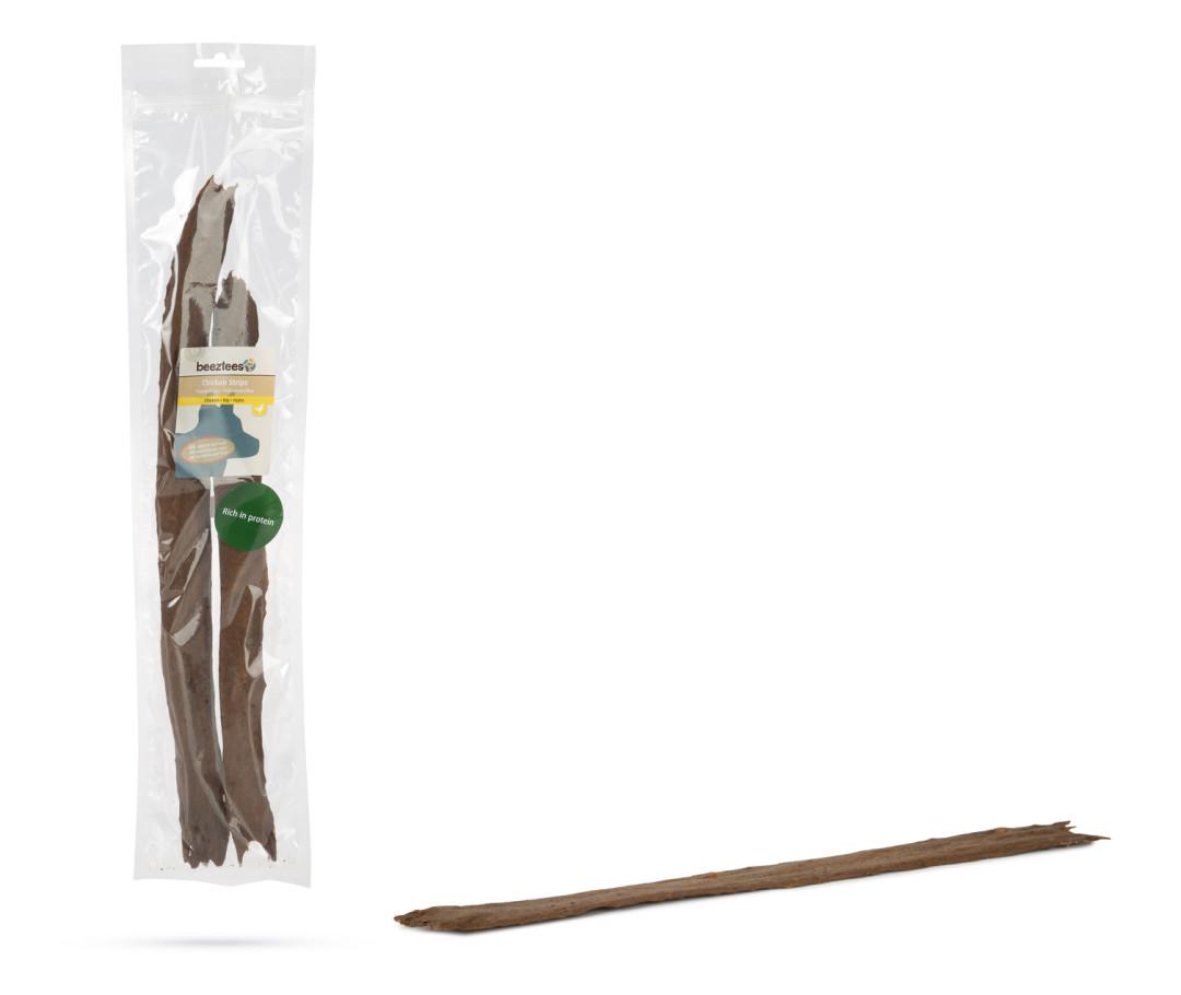 Beeztees Kippenstrips met Insecten en Rund 40 cm 3 st