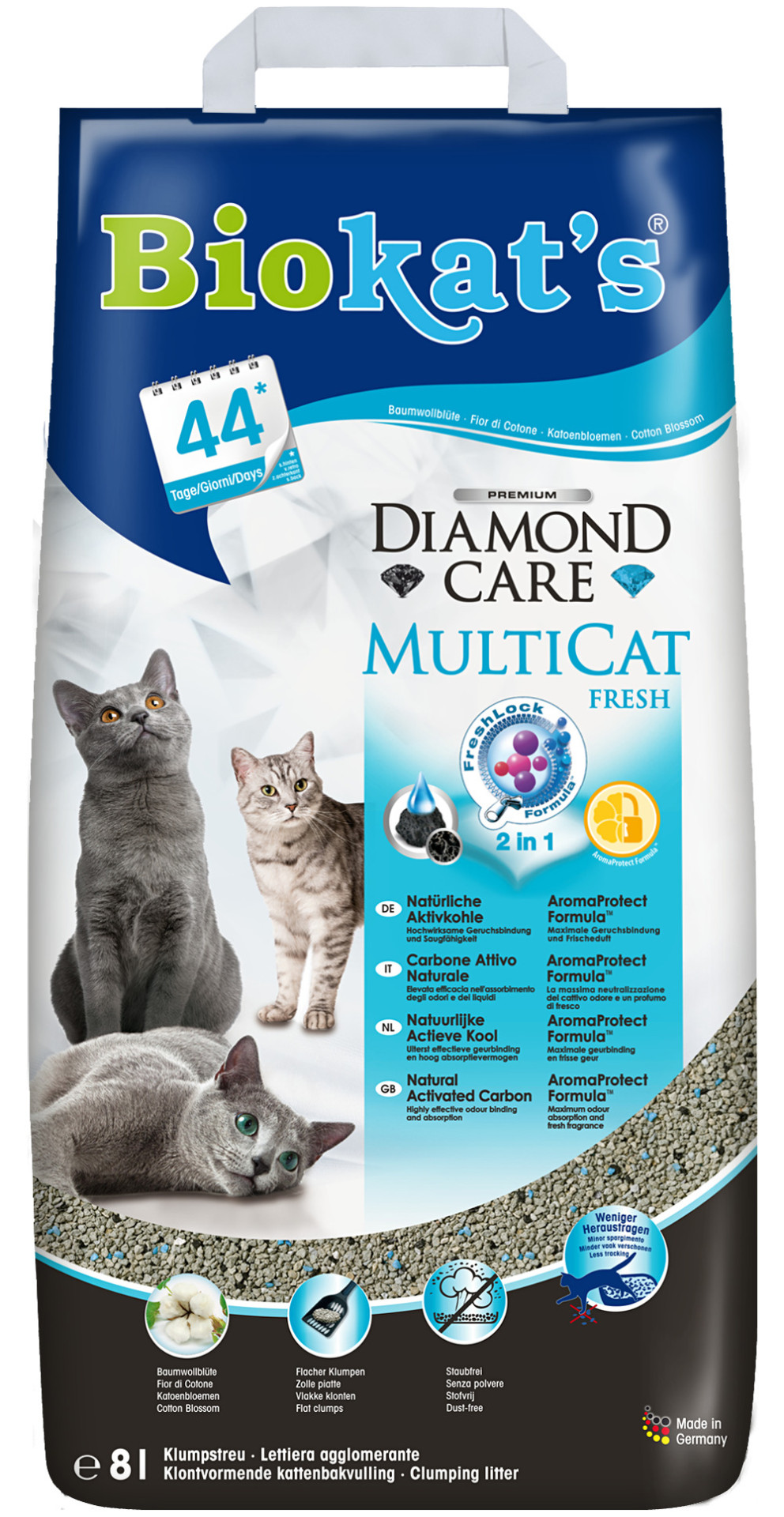 Biokat's Diamond Care MultiCat Fresh 8 ltr
