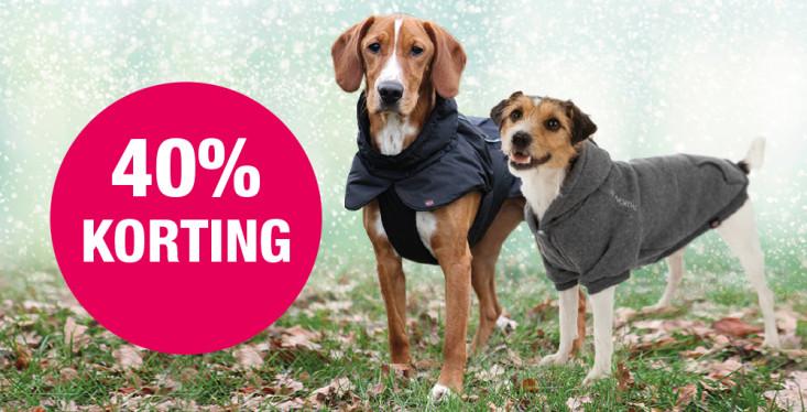 40% korting op hondenkleding