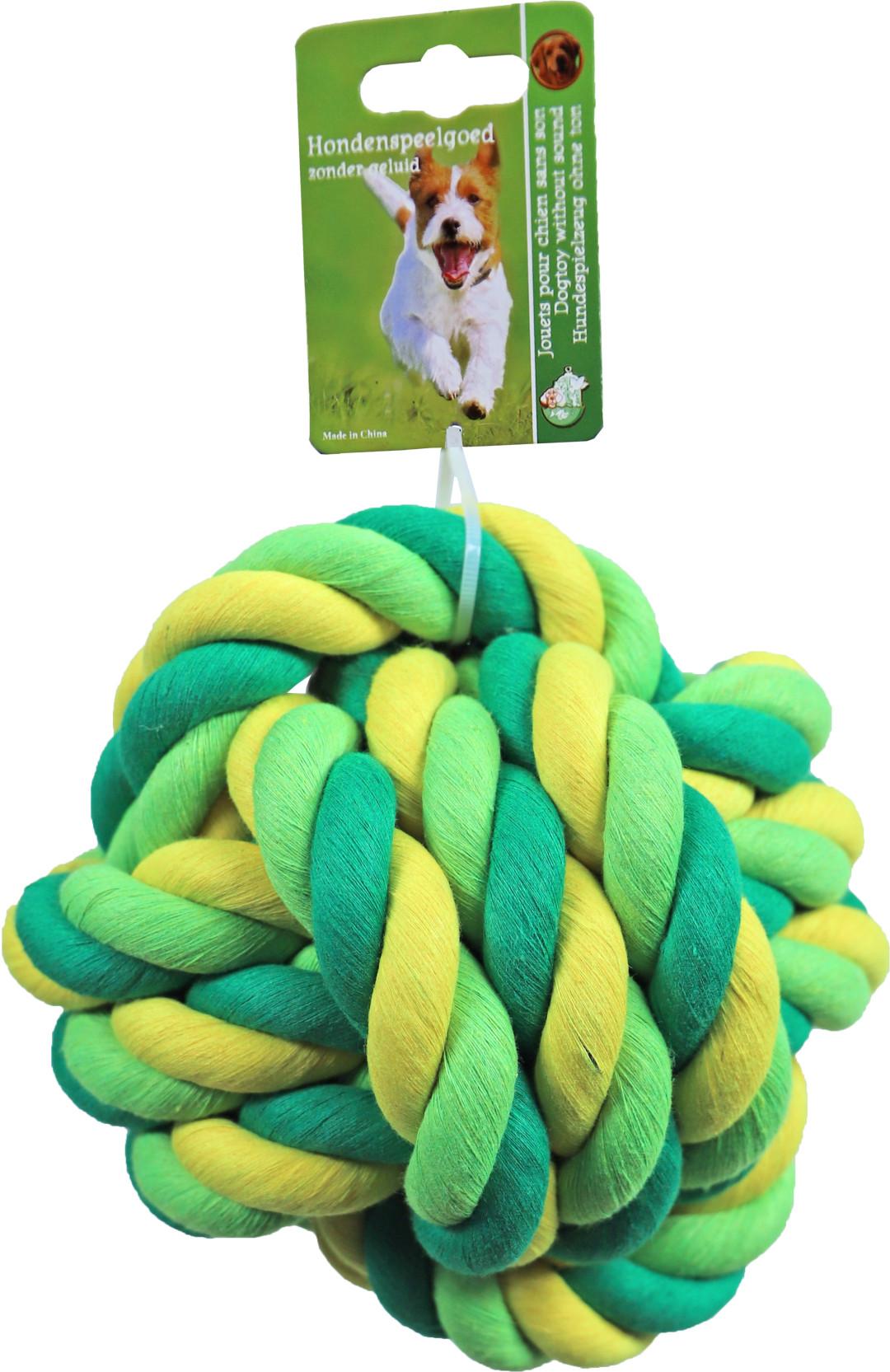Touwbal Groen/geel XXL 17,5 cm