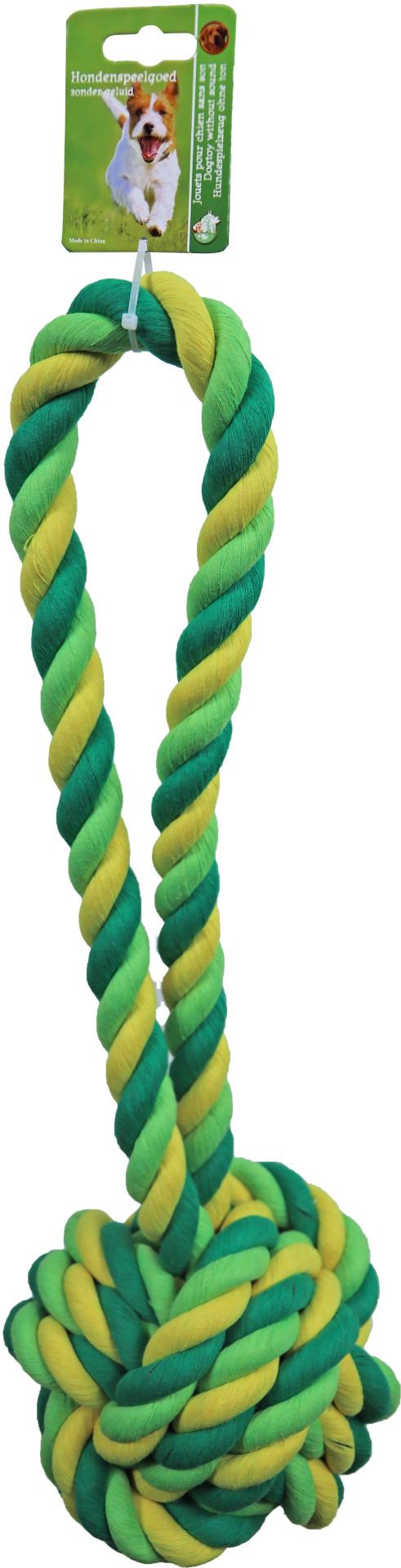 Touwbal met Lus Groen/geel XXL 50 cm