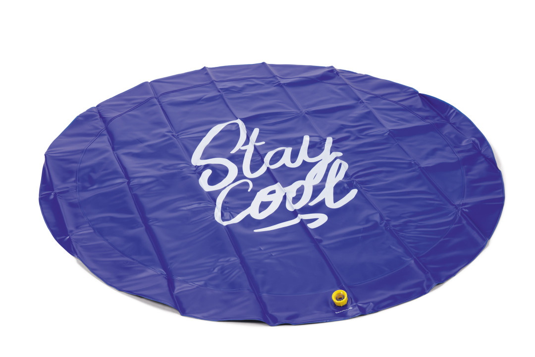 Beeztees Sprinklermat Stay Cool Blauw 130 cm