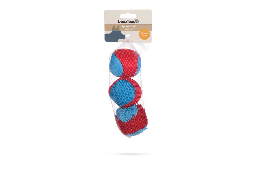 Beeztees hondenspeelgoed Splashbal Blauw/rood 3 st