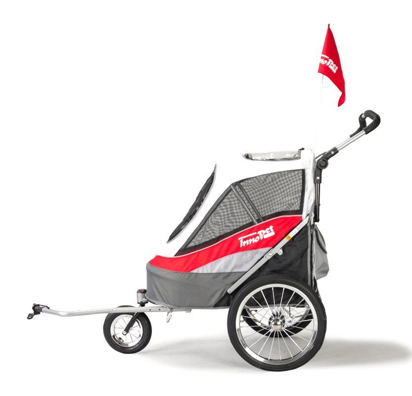 Innopet Sporty Dog Trailer Deluxe Red/white
