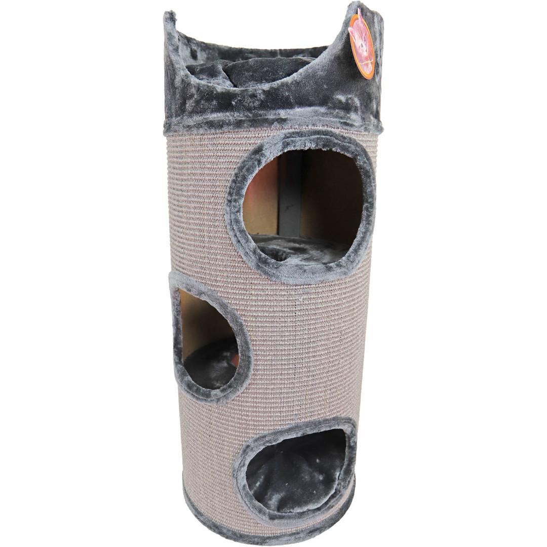 Krabton sisal met zit<br>3-gaats grijs/lichtgrijs<br>100 cm