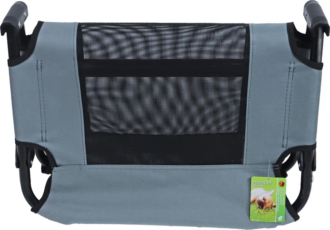 Hondenstretcher opvouwbaar Grijs <br>76 x 50 cm