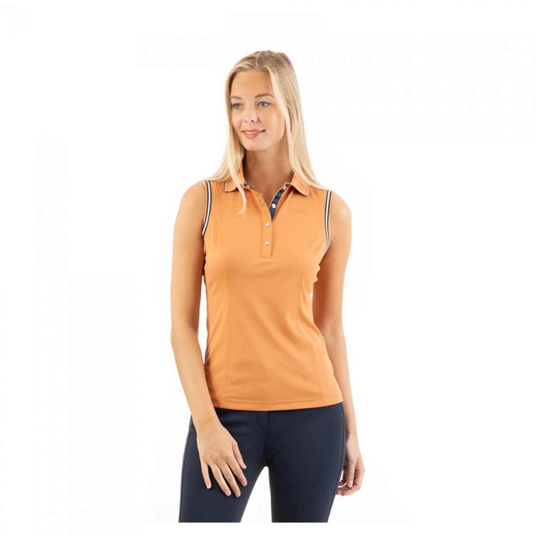 ANKY Sleeveless Polo Shirt Copper