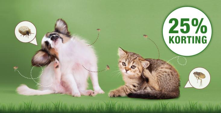 Bescherm je huisdier, 25% korting!