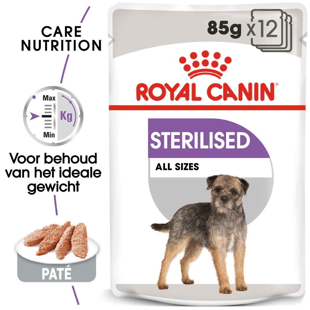 Royal Canin hondenvoer Sterilised Wet 12 x 85 gr