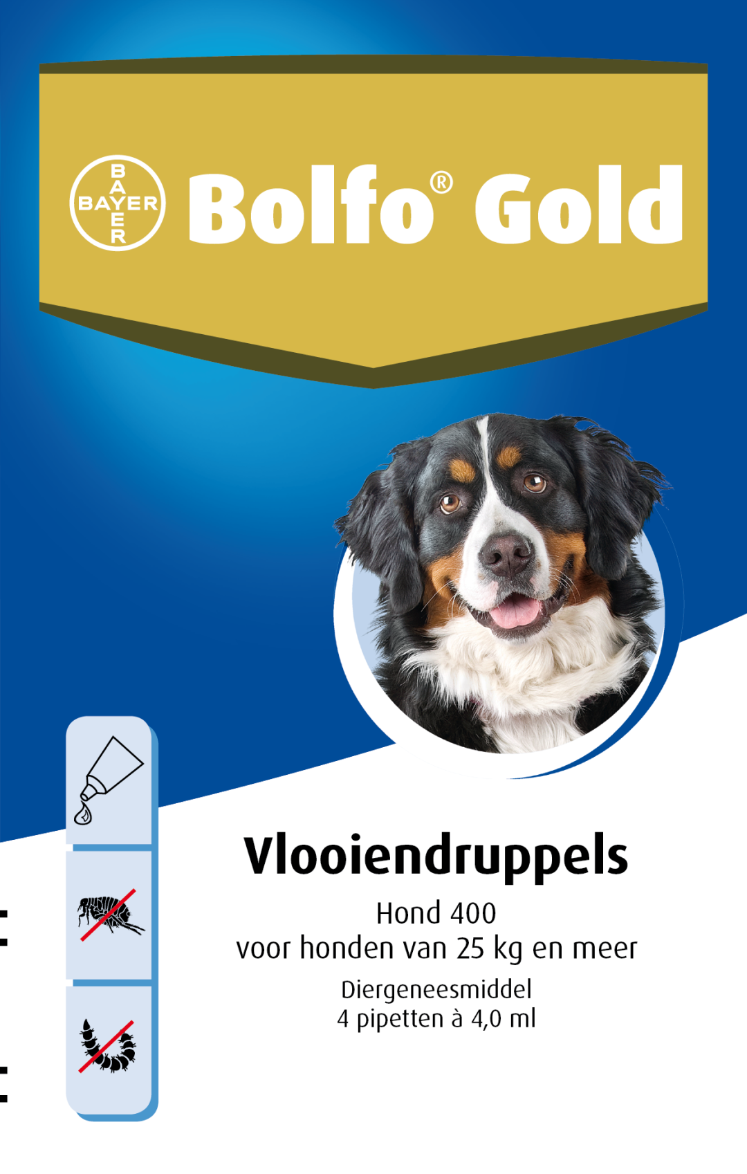 Bolfo Gold 400 hond <br>4 pipetten