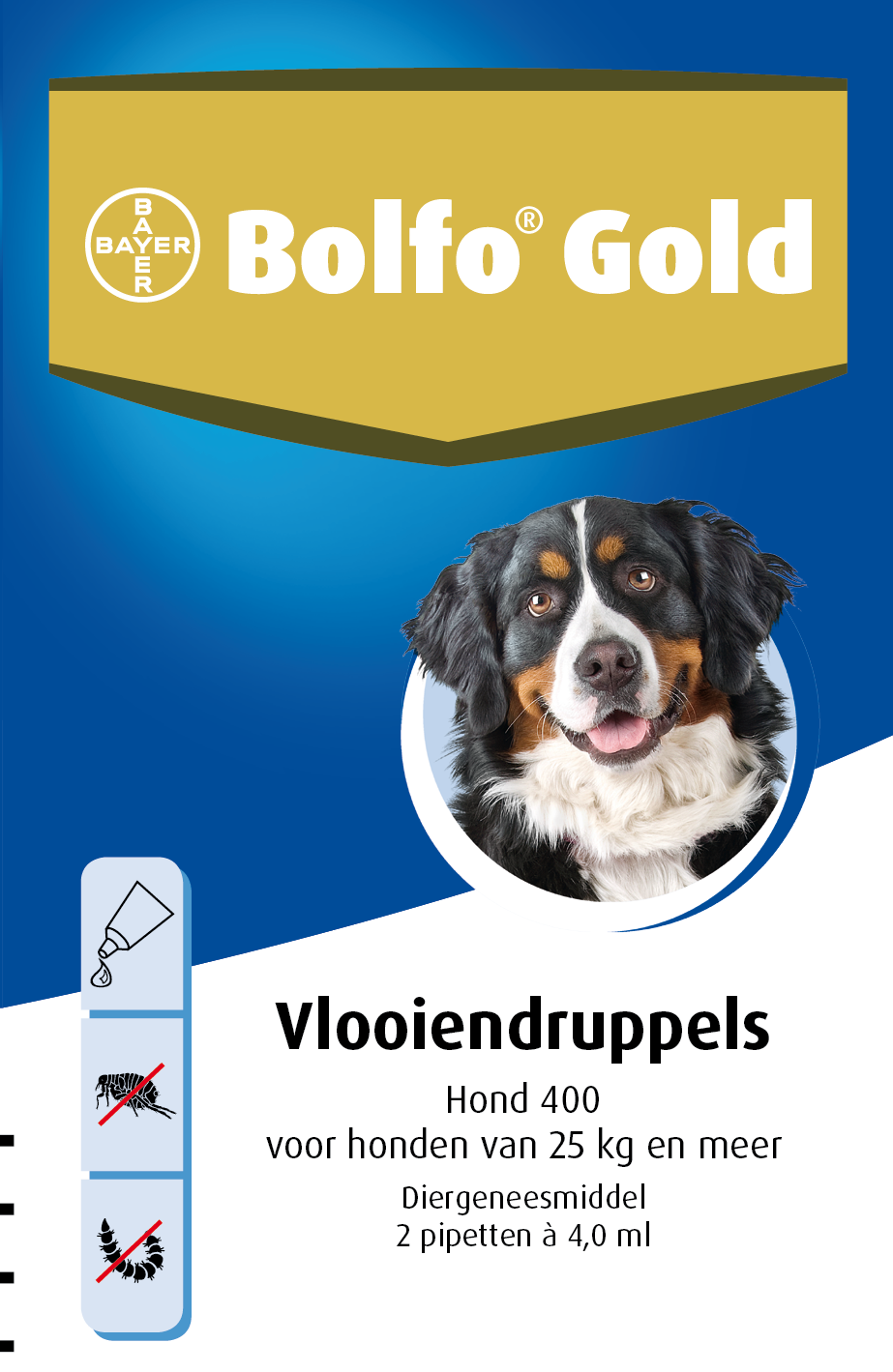 Bolfo Gold 400 hond <br>2 pipetten