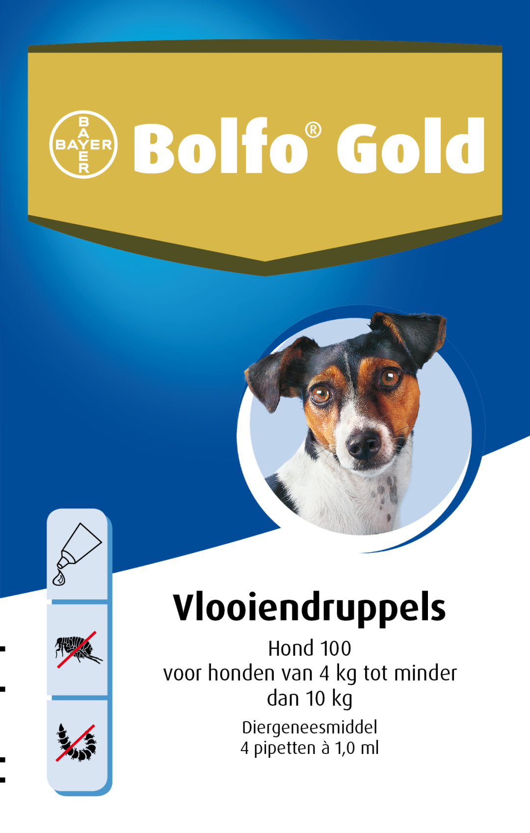 Bolfo Gold 100 vlooiendruppels <br>4 pipetten