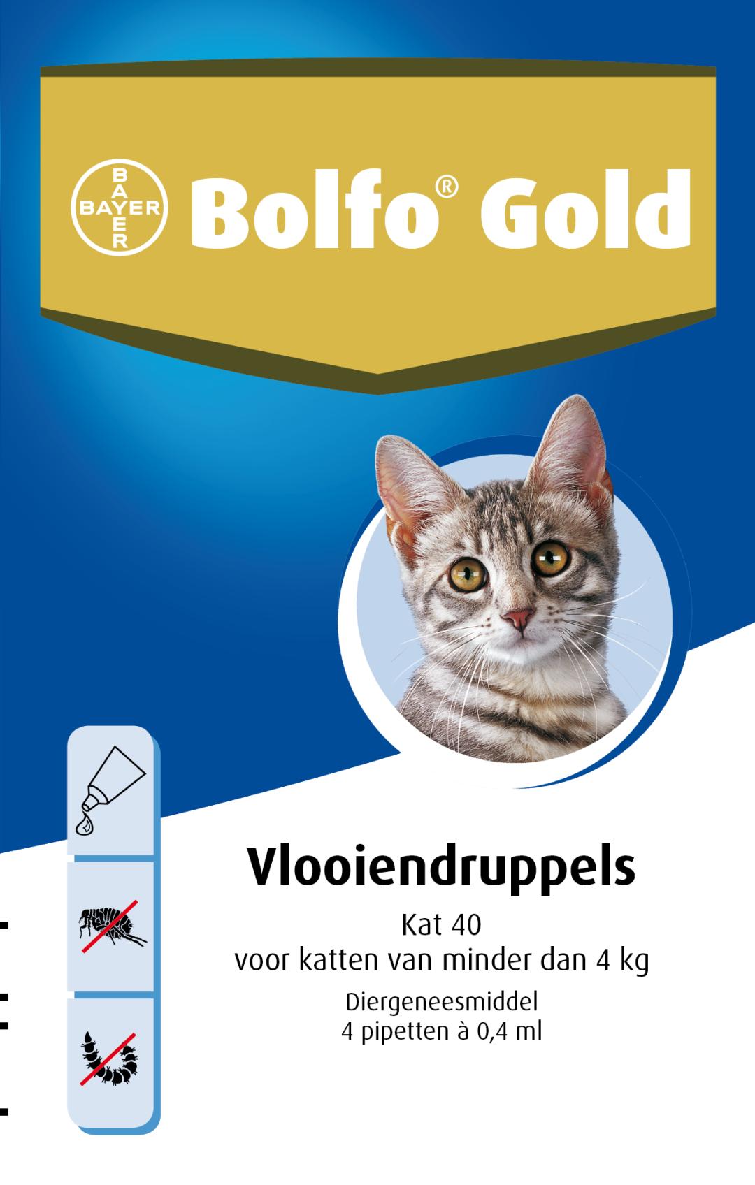 Bolfo Gold kat 40 <br>4 pipetten
