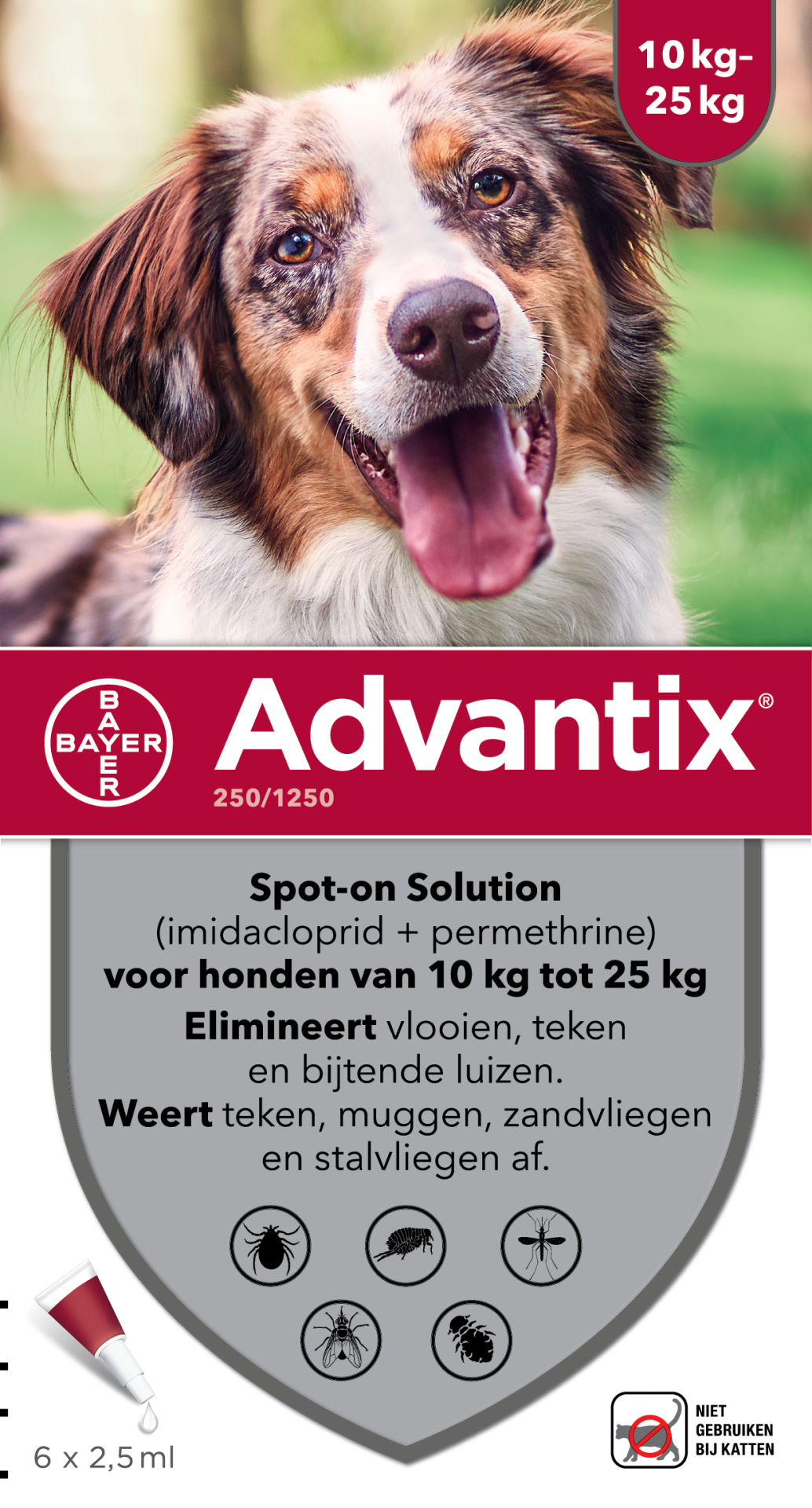 Advantix 250 6 pipetten