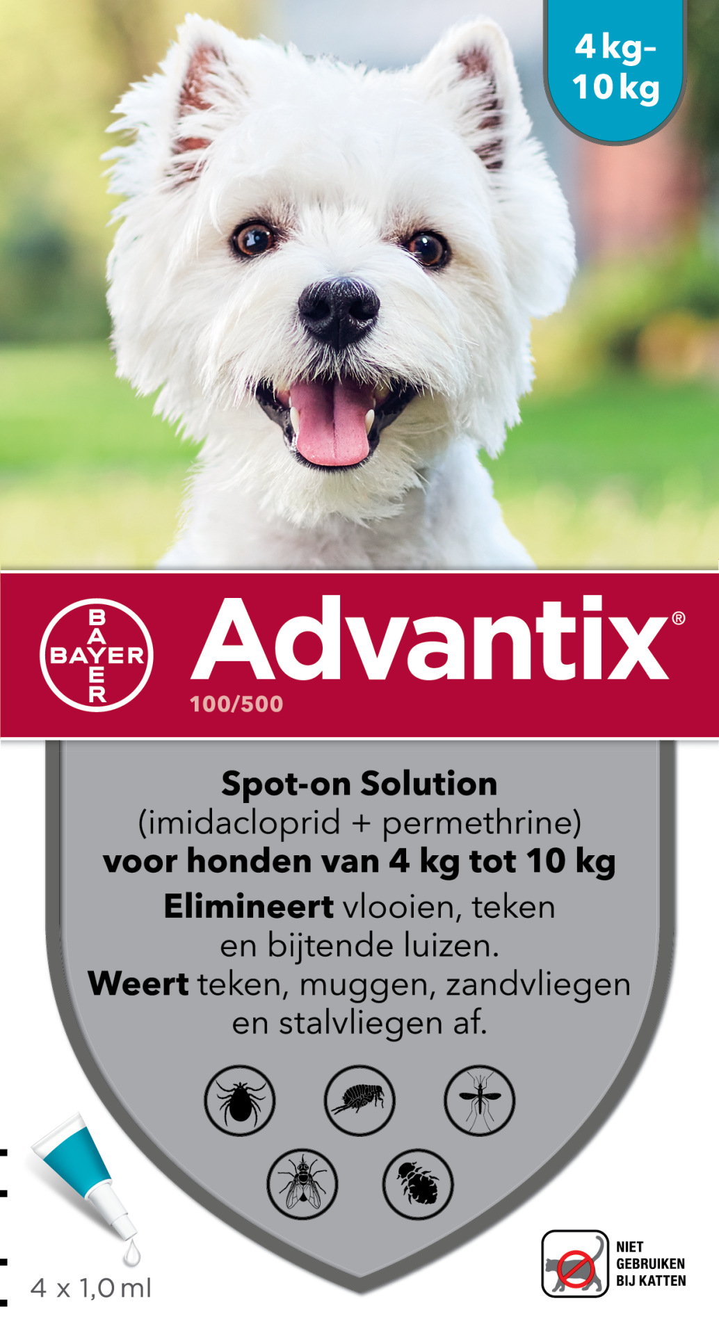 Advantix 100 4 pipetten
