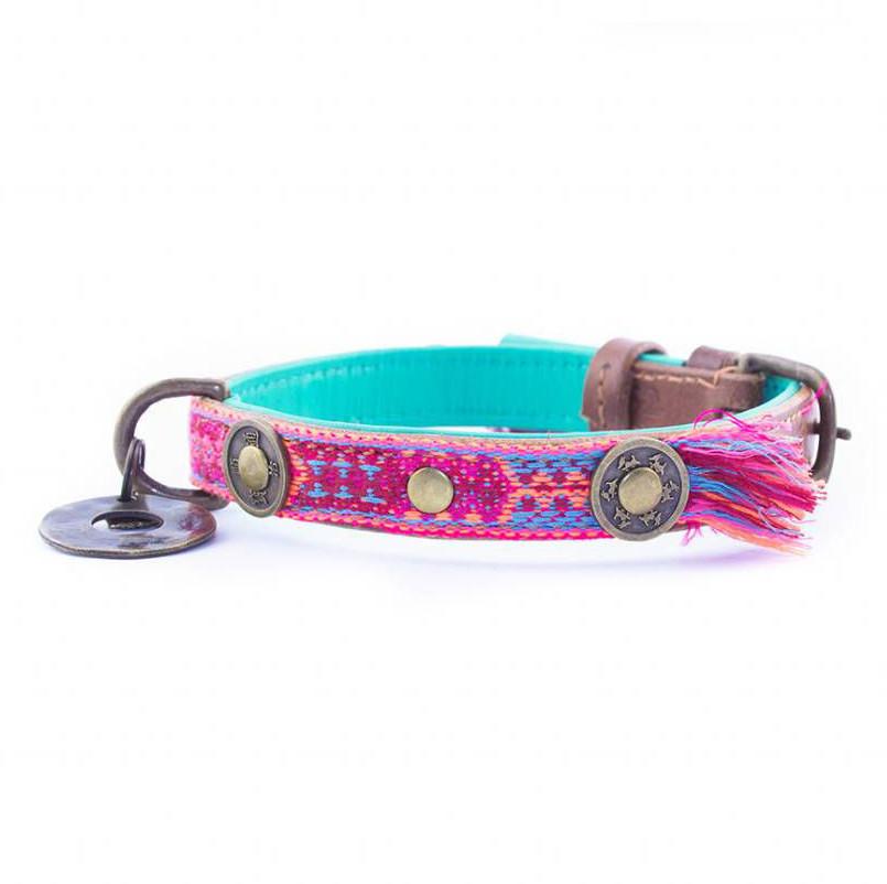 Dog with a Mission Halsband Boho Rosa