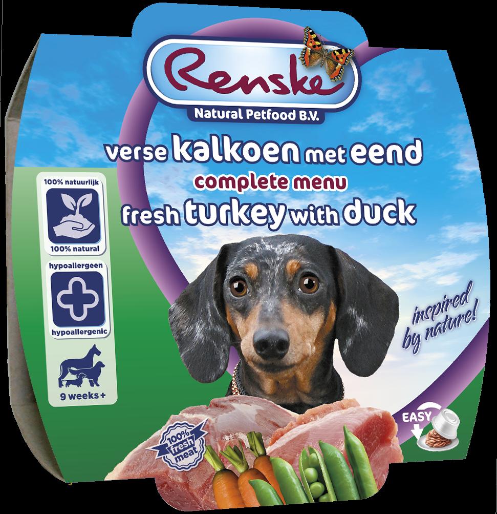 Renske hondenvoer Vers Vlees maaltijd kalkoen & eend 100 gr