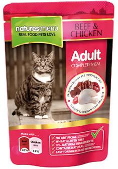 Natures Menu kattenvoer Beef & Chicken 100 gr