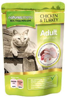 Natures Menu kattenvoer Chicken & Turkey 100 gr