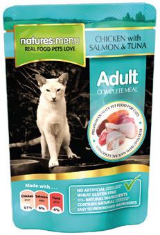 Natures Menu kattenvoer Chicken, Salmon & Tuna 100 gr