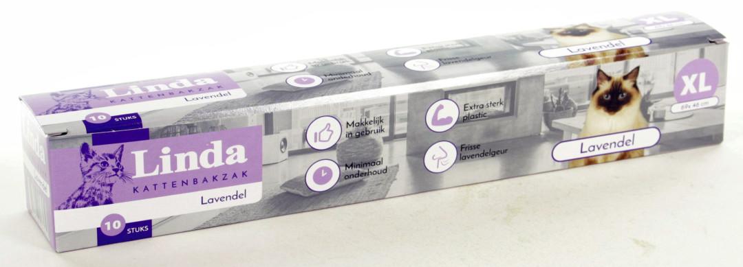 Linda Kattenbakzak Lavendel XL 10 st