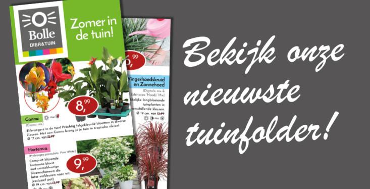De nieuwste tuinfolder